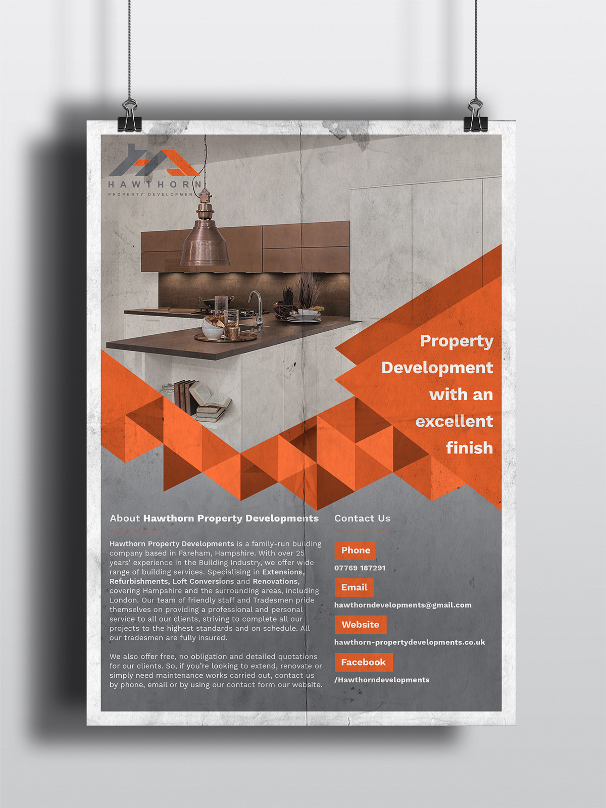 Property development flyer design Portsmouth, Hampshire